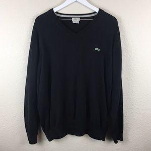 LaCoste Black V-Neck Sweater